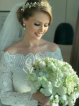 Bespoke Off Shoulder Lace Wedding Dress