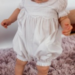 Adorable Handmade Lace Baby Girl Rompers Picot Collar