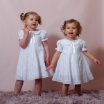 Andressa White Lace Flower Girl Dress