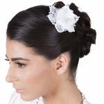 Bridal  Hair Flower Handmade Lace