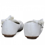 Bejeweled Bow Flower Girls Shoes