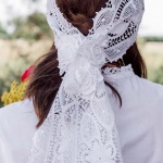 Bridal Lace Headpiece Handmade
