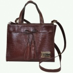 Brown Bow Strap Shoulder Bag