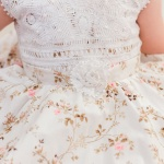 Catarina  Full Handmade  Lace Bodice Floral Girls Dress