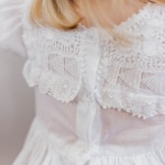 Full Bodice Handmade Lace Baby Christening Gown