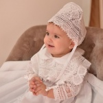 Lace Baby Christening Bonnet Fully Handmade