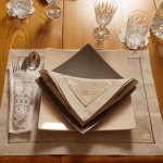 Linen Placemats with Handmade  Lace Detail