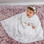 Baby Christening Gown Hand Embroidered