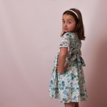 Molly Floral Green Girl Dress