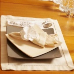 Peach Cotton Hand Hemstitched Placemat