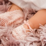 Pink Lace Baby Christening Booties