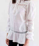 Puff White Long Sleeve Lace Top