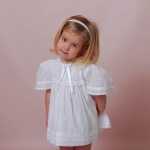 Sabrina  White Lace Girl Dress Hand Embroidered