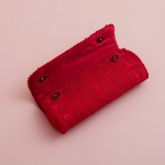 Spicy Red Handmade Lace Clutch Bag