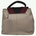 Patchwork Beige Leather Women Handbag