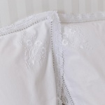 White Lace Pillowcase Hand Embroidered