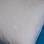 Hand Embroidered Pillowcase & Edging Lace