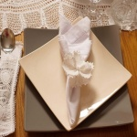 White Handmade Lace Napkin Rings