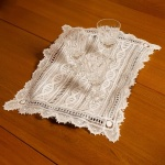 White Handmade Lace Placemat (or Tray Cloth)