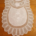 White Lace Table Runner Handmade L190cm x W37cm