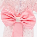 Yasmin Pink Lace Girl Dress Fully Handmade