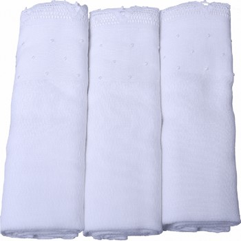 White Cotton Muslin Burp Cloths with Lace Trims