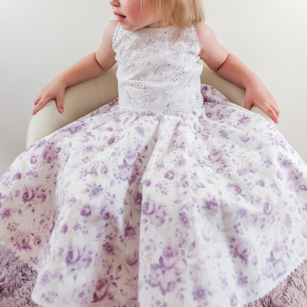 Ana Floral Cotton Girl Dress