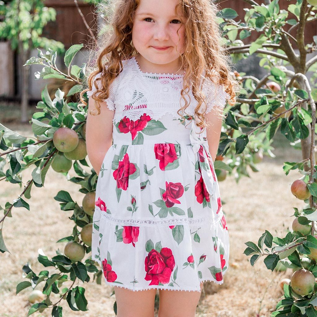 Helena Floral Cotton Girl Dress