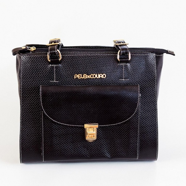 Black Midnight Women Bag with Pockets