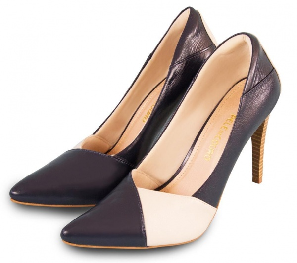 Two Tone Pointed Toe Women Pumps