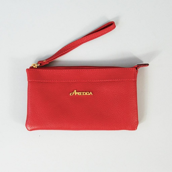 Rosy Red Wristlet Purse
